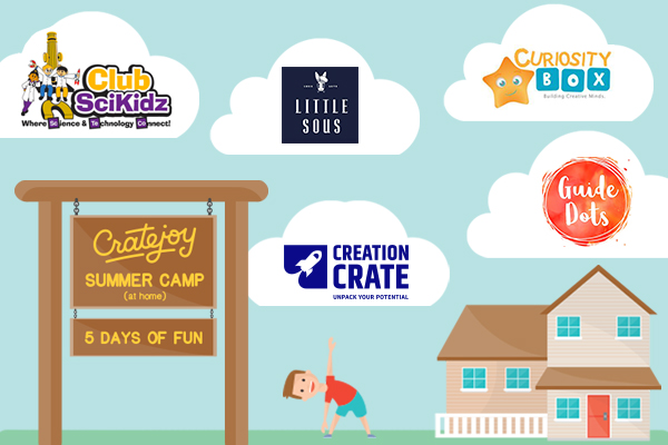 Cratejoy Summer Camp includes 5 different kids subscription boxes.