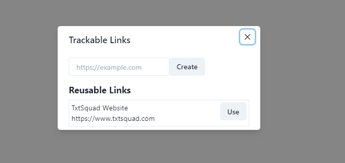 Create Tracking Link