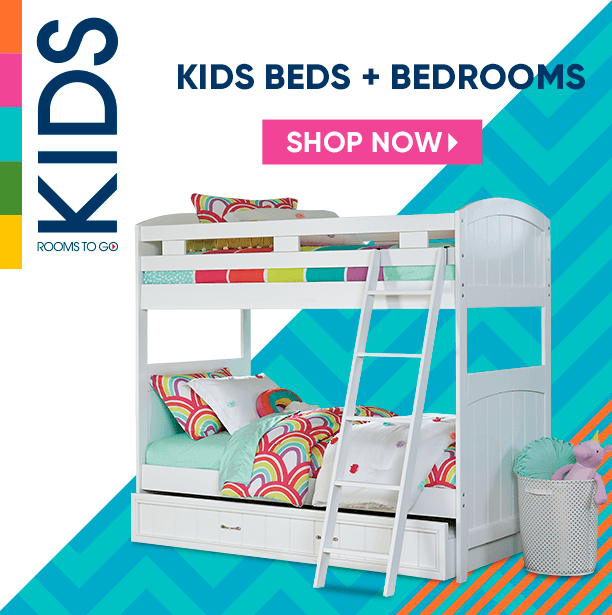 kids beds + bedrooms. shop now
