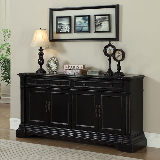 Mabel Way Black Credenza