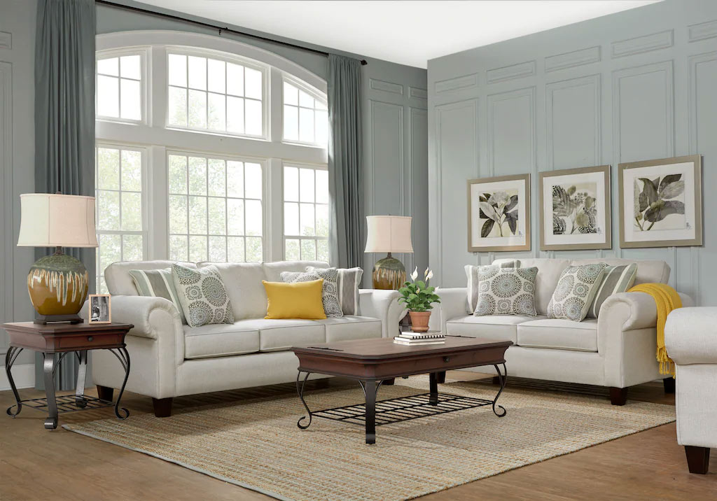 Pennington Sand Transitional Living Room Set