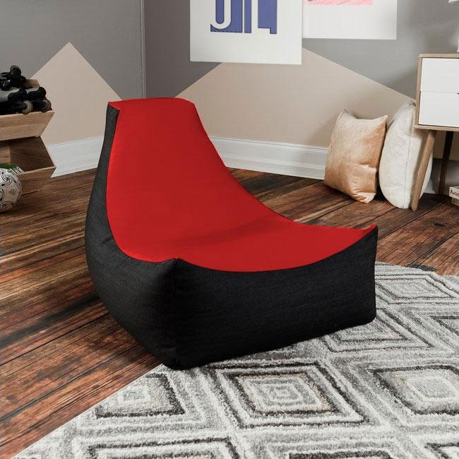 Nika Orange Bean Bag Chair