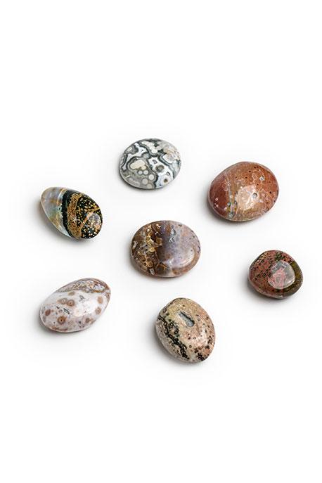 Crystal for Anxiety Positivity Stone Root Chakra Natural Healing Heart Chakra Ocean Jasper Point Ocean Jasper Tower Ocean Jasper