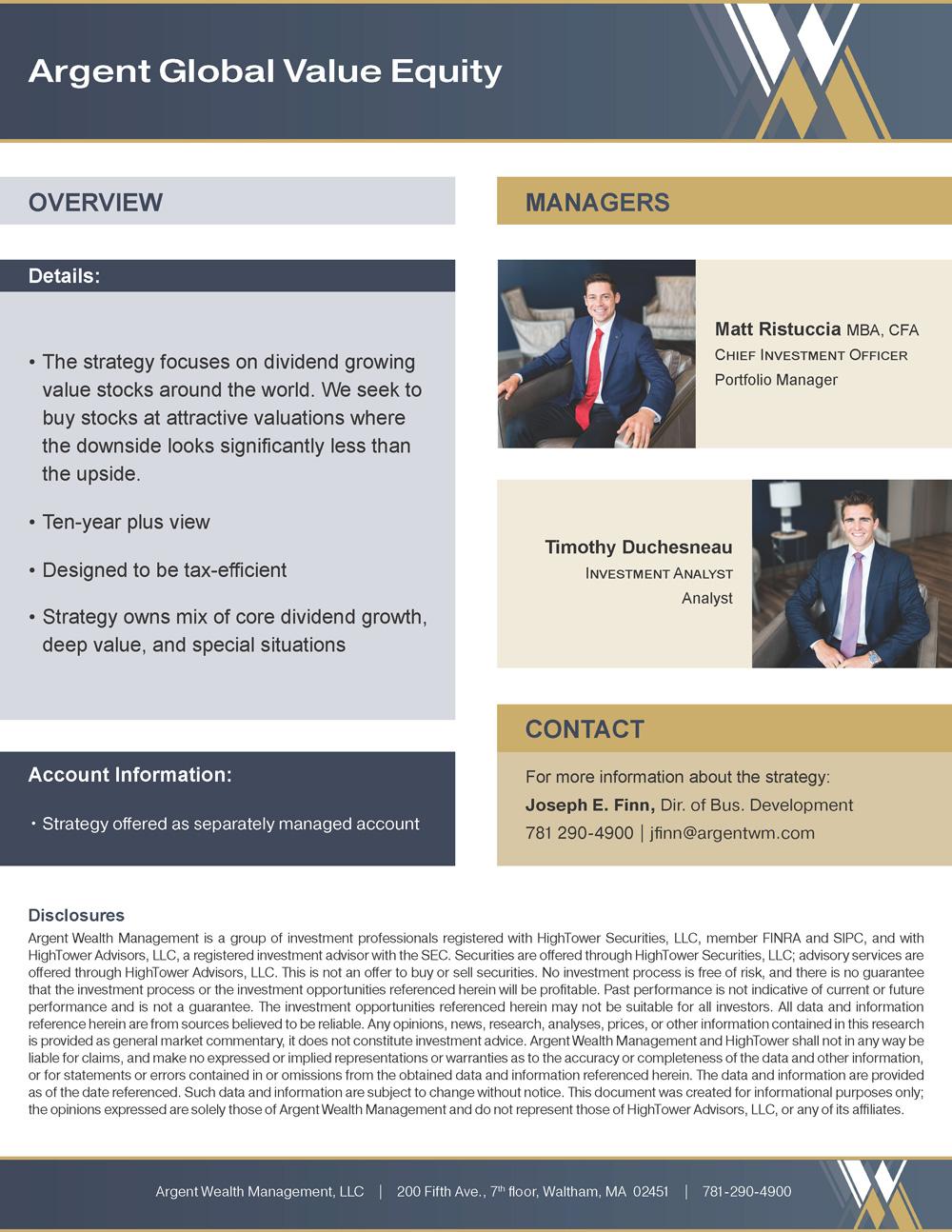 Argent Global Value Equity PDF
