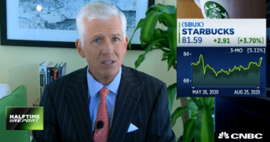 Halftime Report: Starbucks upgraded to Buy at Stifel