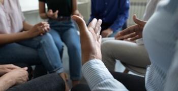 group collaborating divorce planning webinar