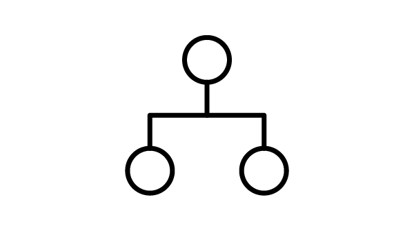 Icon of a family tree