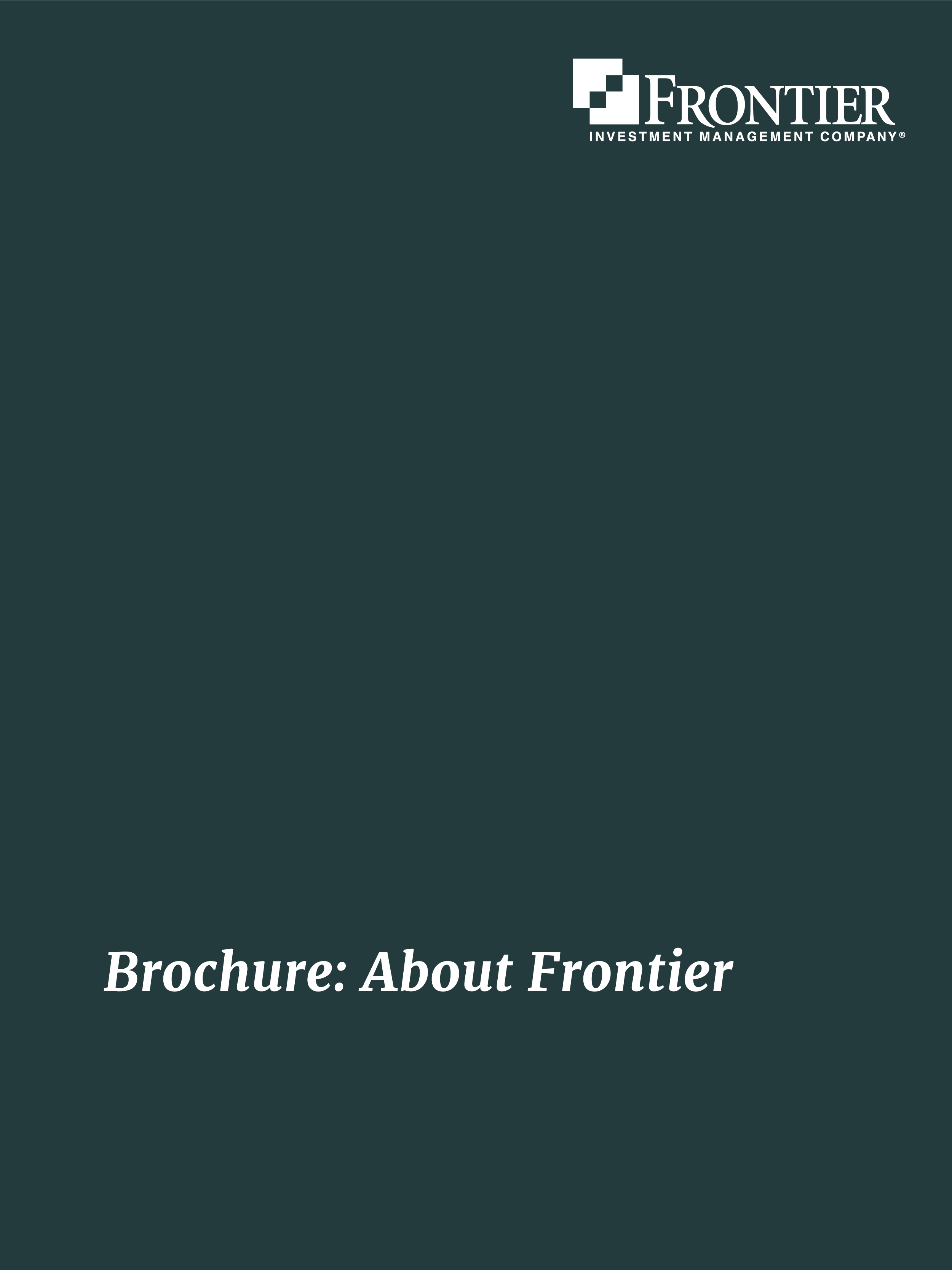 Brochure: About Frontier