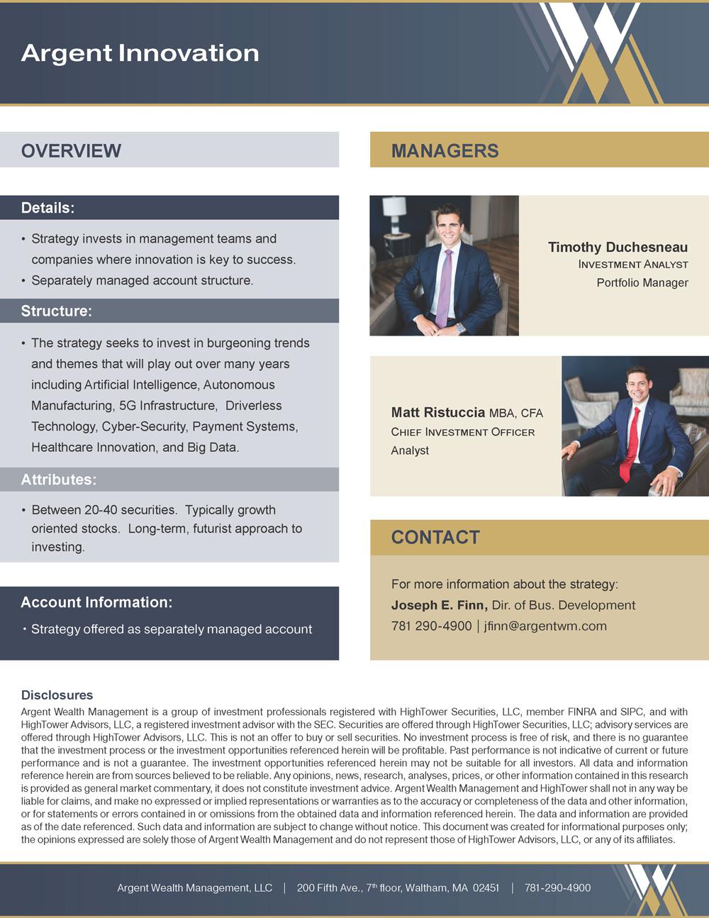 Argent Innovation PDF