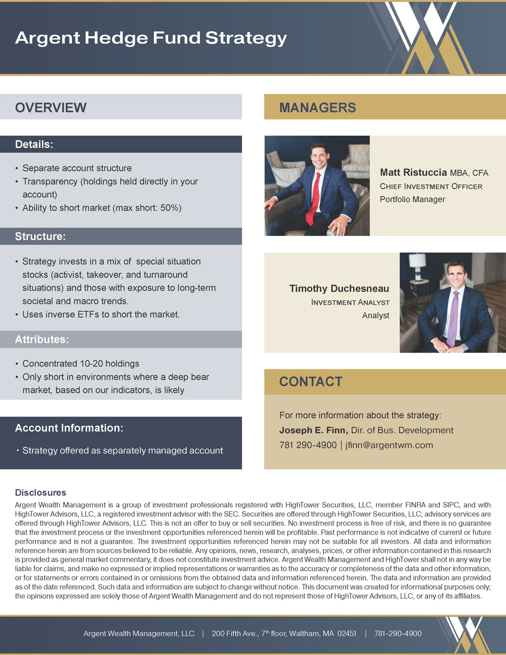 Argent Hedge Fund Strategy PDF
