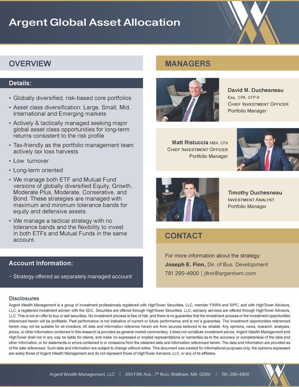 Argent Global Asset Allocation PDF