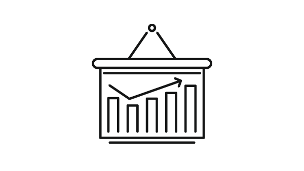 Icon of a stock chart