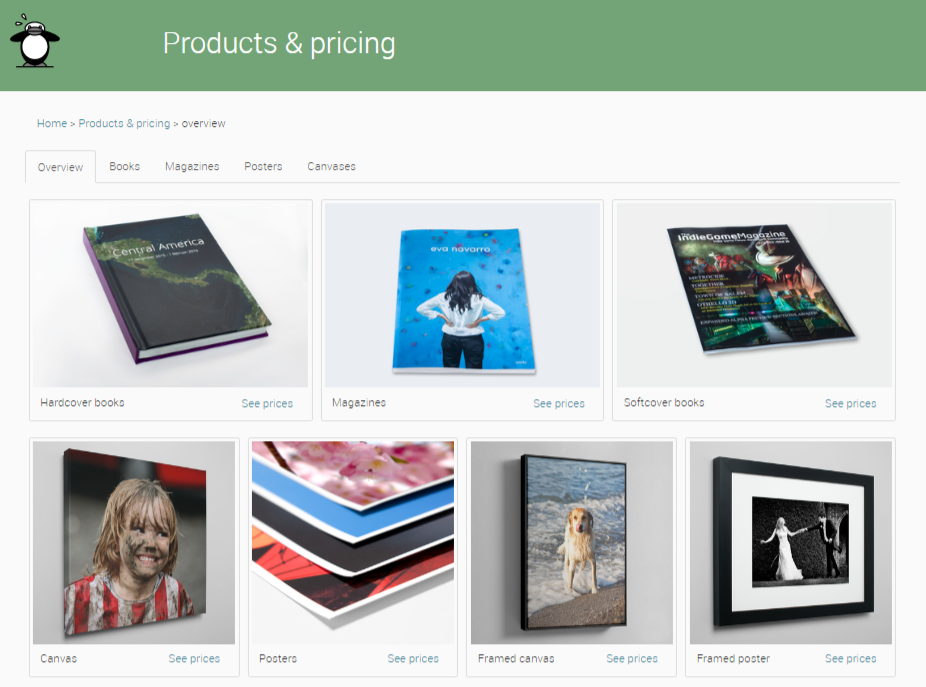 peecho products pricing