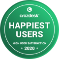 Crozdesk Happiest Users award 2020
