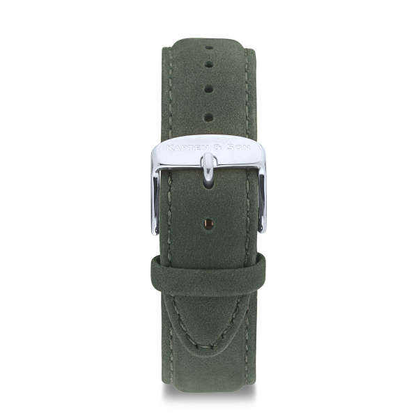 """Leather Strap """"Pine Green Suede Leather"""""""