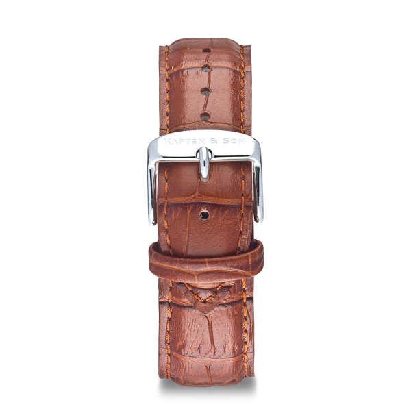 "Leather Strap ""Brown Croco Leather"""