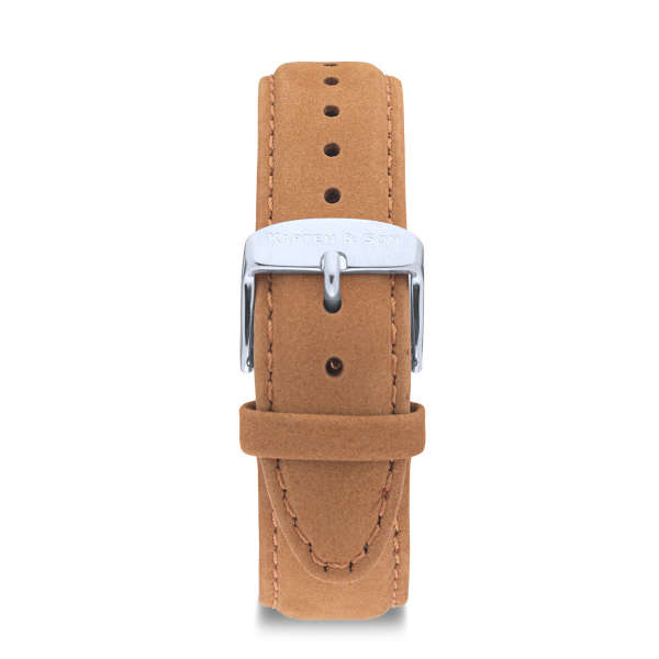 """Leather Strap """"Cognac Suede Leather"""""""