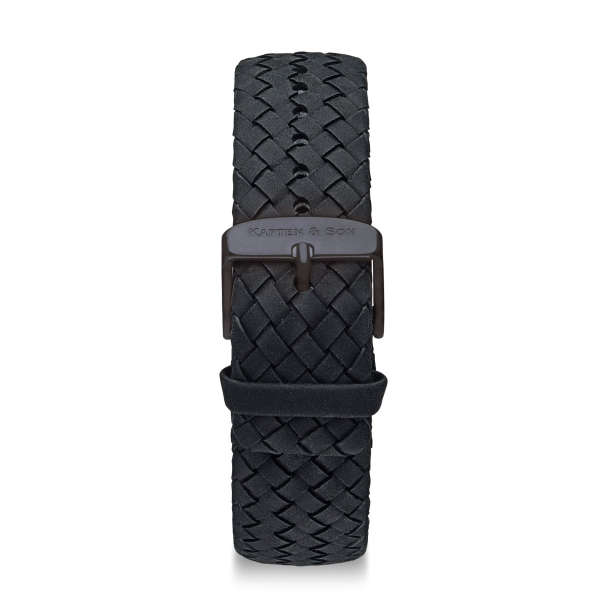 "Leather Strap ""Black Woven Leather"""