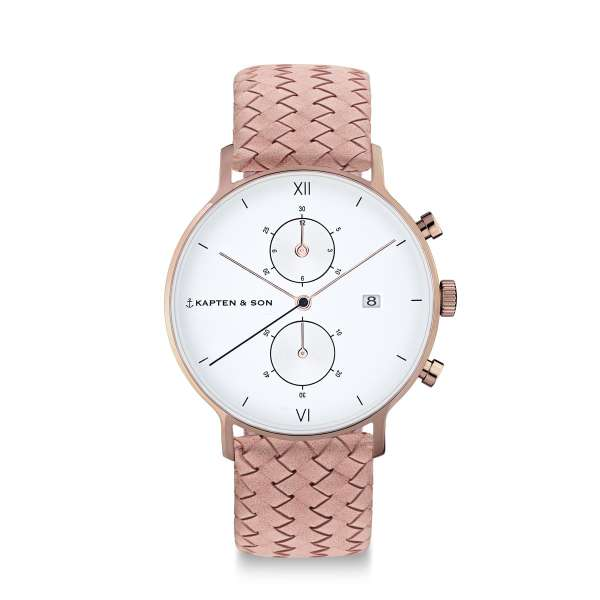 "Chrono ""Rose Woven Leather"""