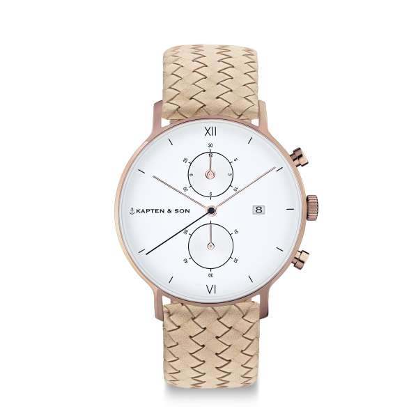 "Chrono ""Sand Woven Leather"""