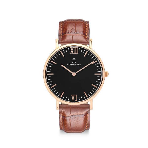 "Campina ""Black Brown Croco Leather"""
