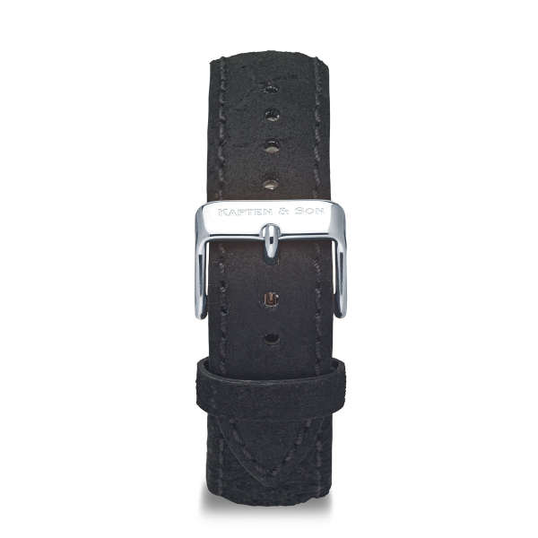 "Leather Strap ""Black Vintage Leather"""