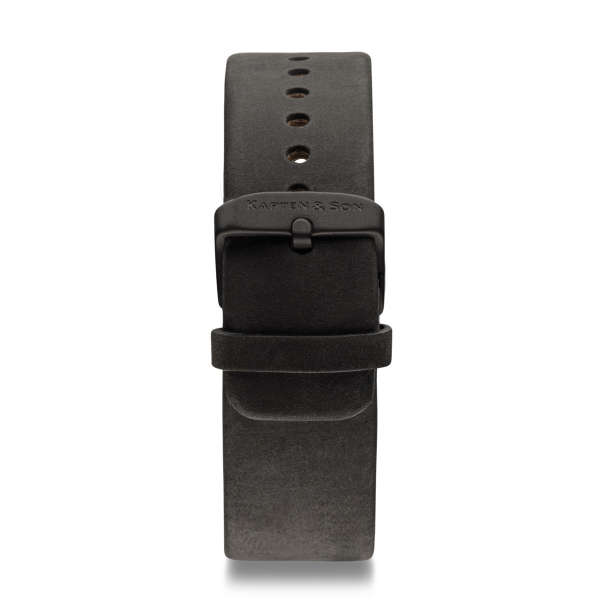 """Leather Strap """"Black Leather"""" Pure"""