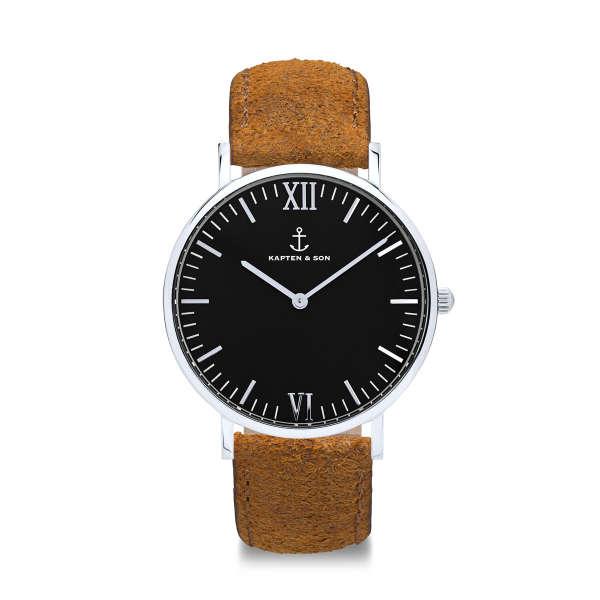 "Campus Silver ""Black Brown Vintage Leather"""