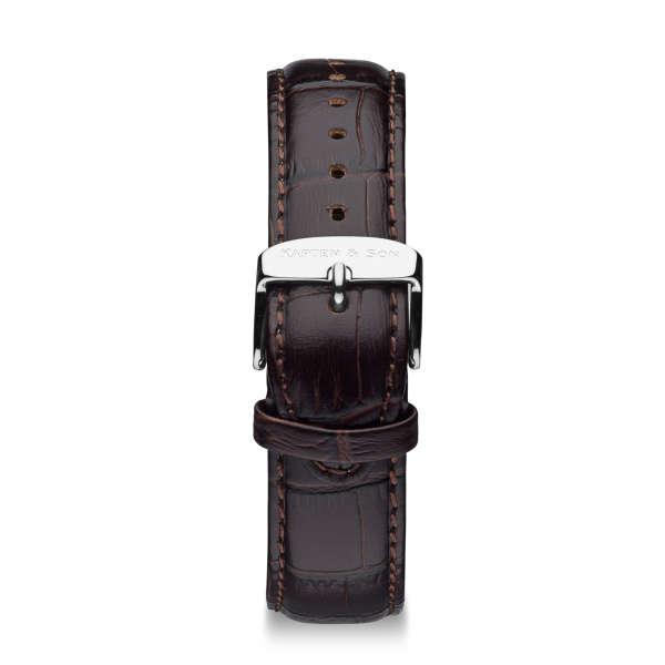 "Leather Strap ""Dark Brown Croco Leather"""