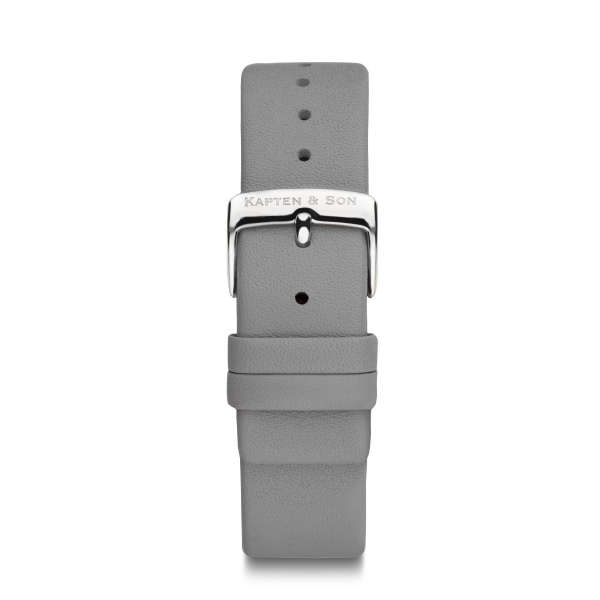 "Leather Strap ""Ash Grey Leather"""