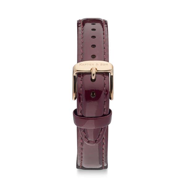 """Leather Strap """"Bordeaux Patent Leather"""" Joy"""
