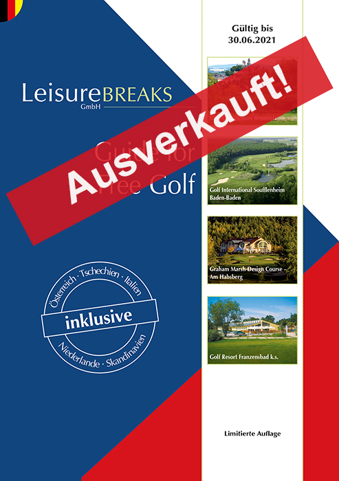 LeisureBREAKS Guide for Free Golf 2020/2021 - Ausverkauft!