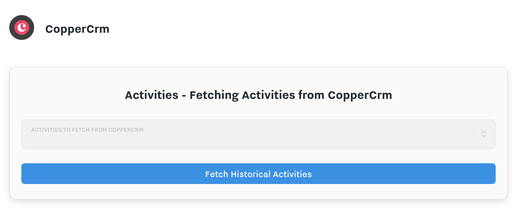 copper activities fetch