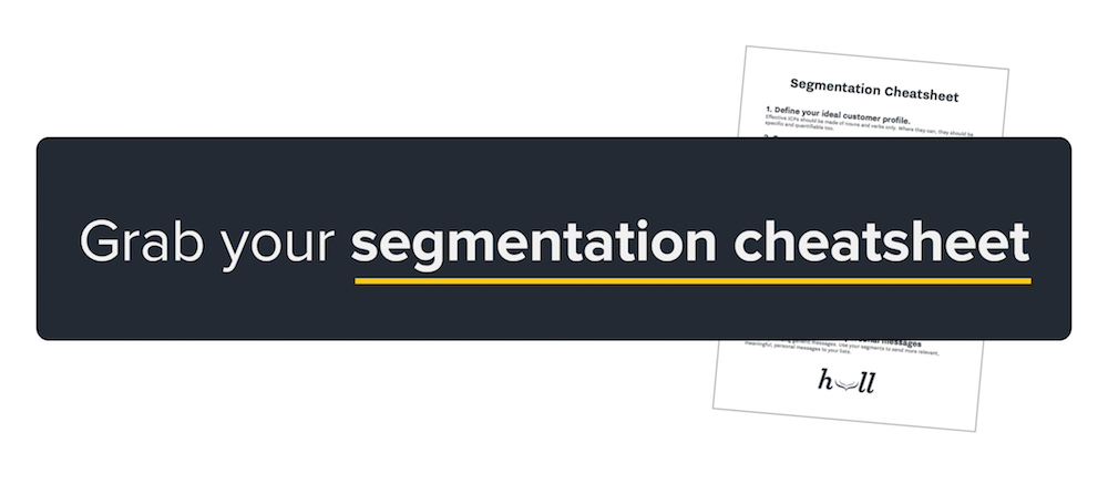Grab your segmentation cheatsheet