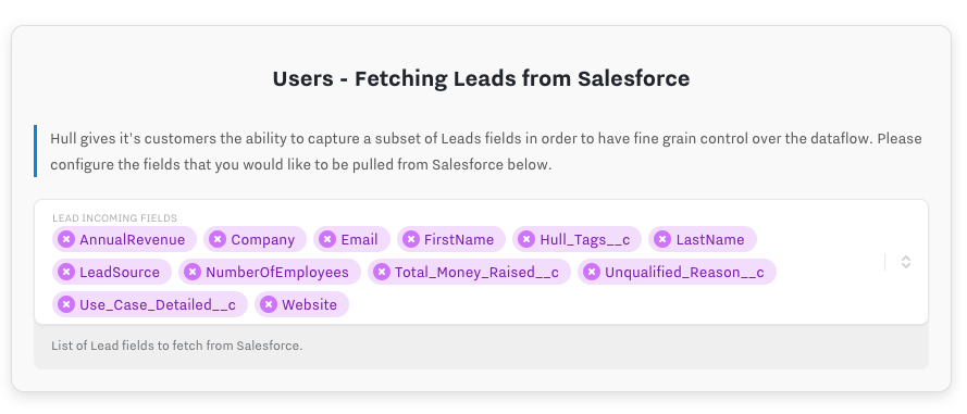 fetching leads from Salesforce 1