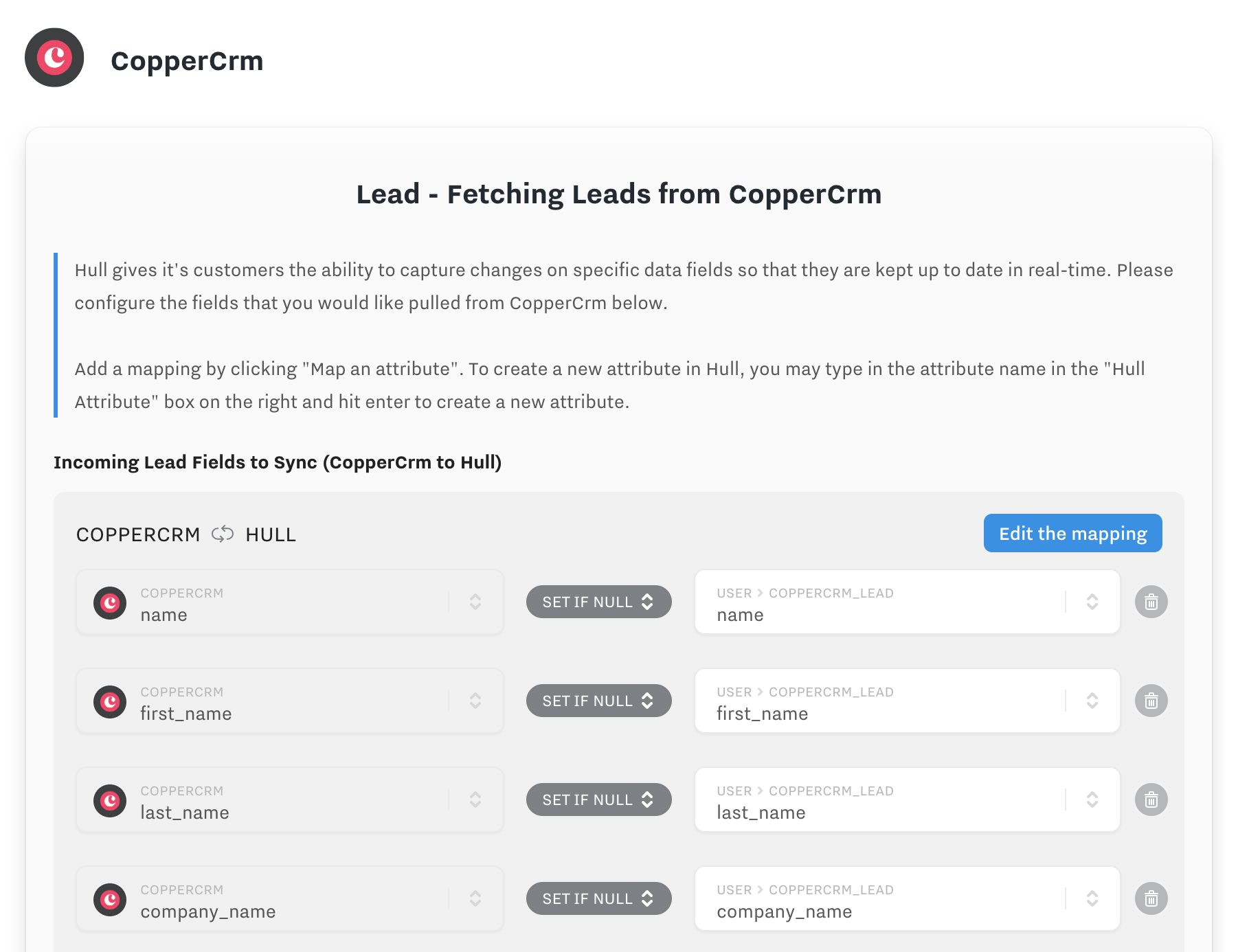 coppercrm lead attributes