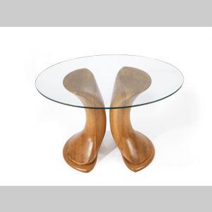 Tisch Glasplatte klein 1