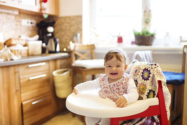 Segurança da criança na cozinha