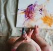 Pintura com os dedos para crianças pequenas