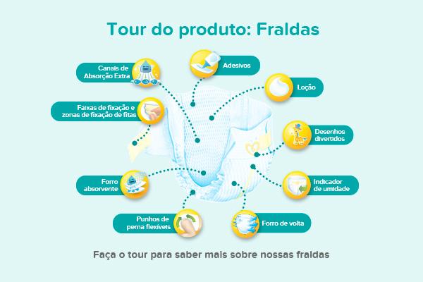 Tour do produto: Fraldas
