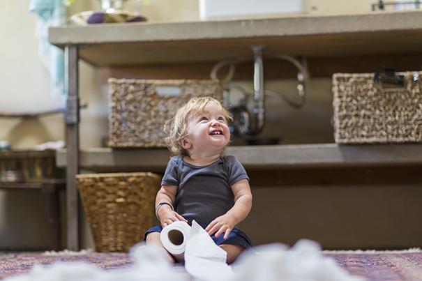 Segurança do bebê no banheiro