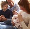 Apresentando o novo bebê para a família