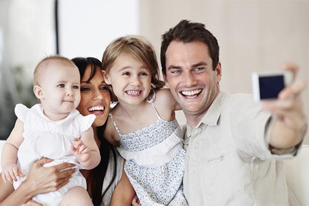 Fotos familiares com seu bebê