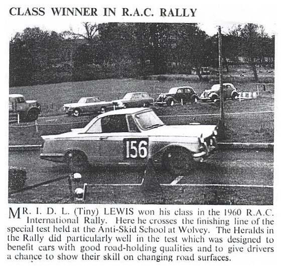 Class Winner in R.A.C. Rally
