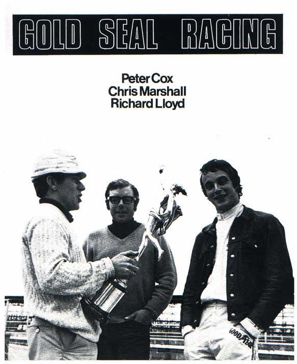 Gold Seal Racing : Peter Cox, Chris Marshall and Richard Lloyd
