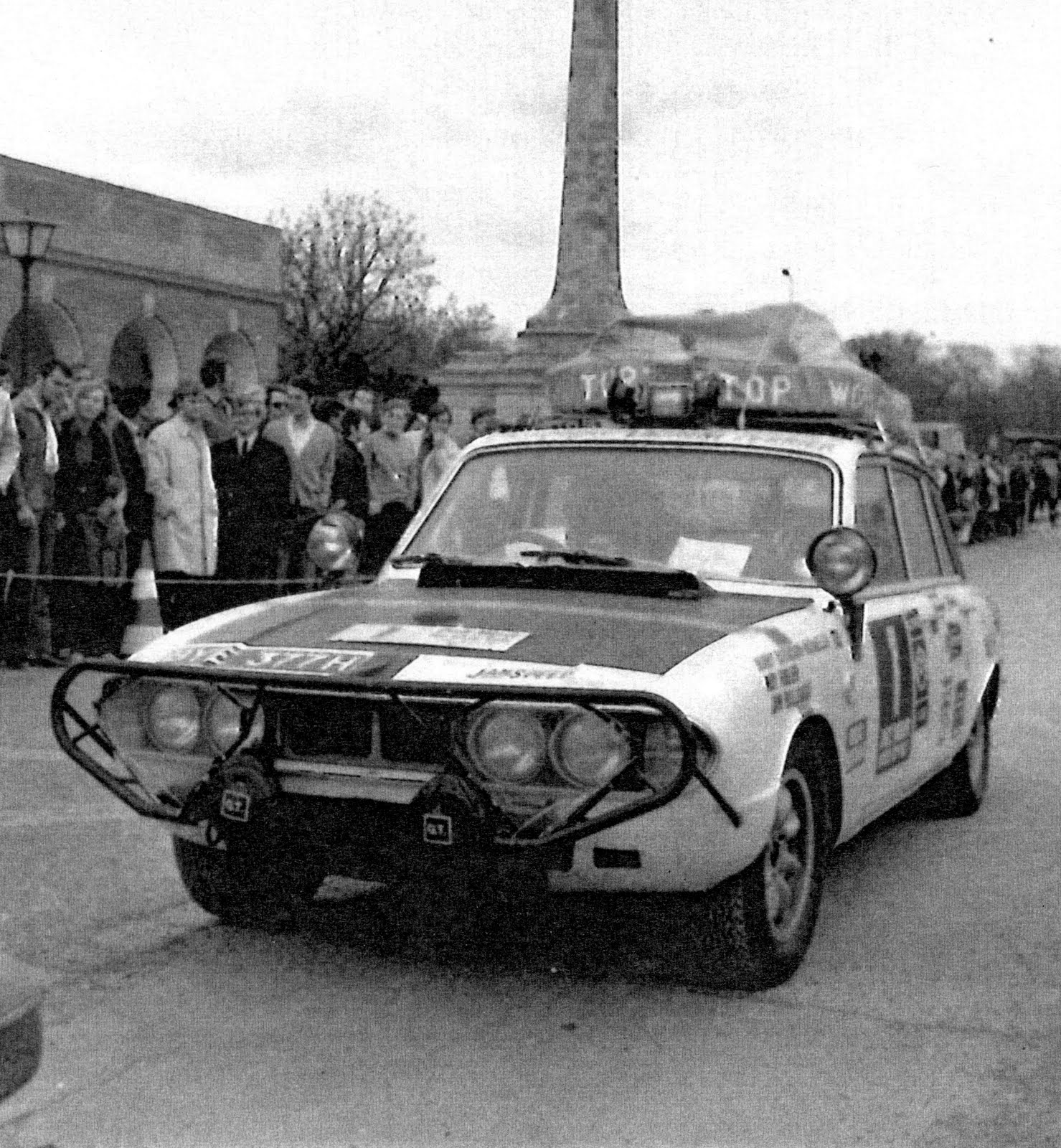 Car Number 1 at or near the start of the World Cup Rally 1970 Picture courtesy Ted Taylor