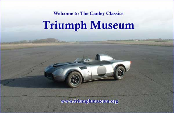 Welcome to the Canley Classics Triumph Museum