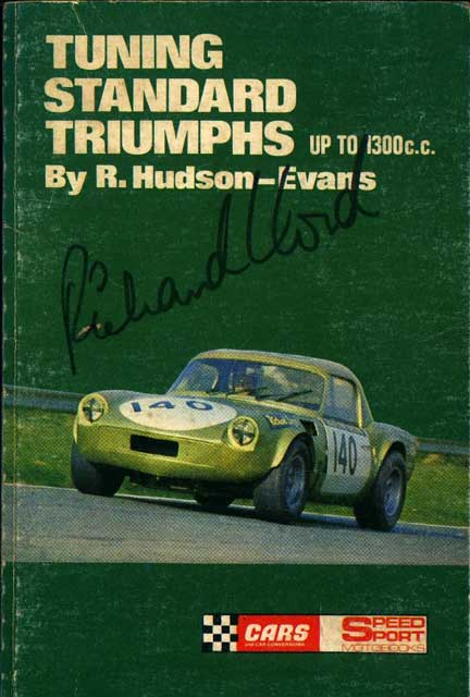 Period shot of car with Richard Lloyd at the helm (courtesy of Richard Lloyd, it's his autograph on the front cover!)