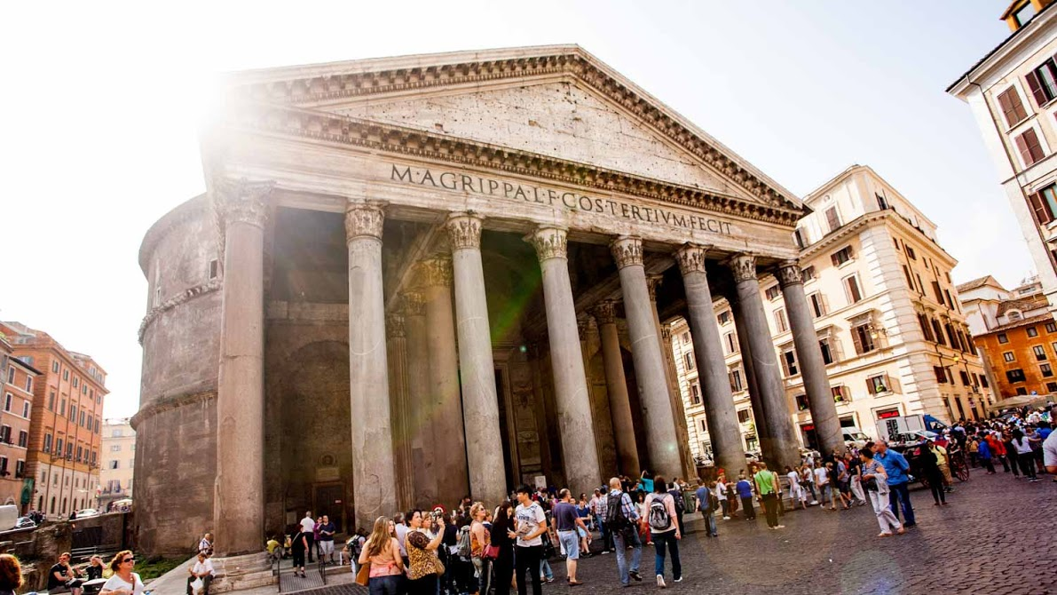 a history of pantheon a roman building However the pantheon is still to this day the worlds largest unreinforced concrete dome in the history of architecture 14 the name pantheon is derived from ancient greek as a temple dedicated to all gods as pan (all) and theos (god.