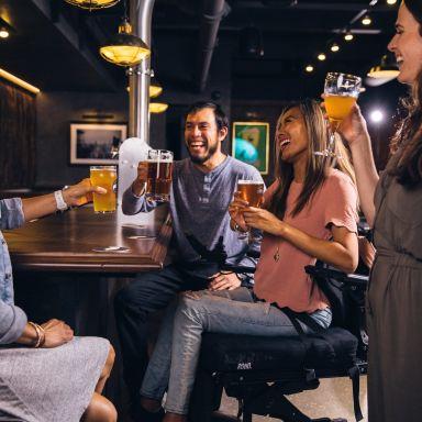 Bar beer people